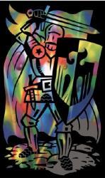 Reeves Szines képkarcoló, mini - Lovag