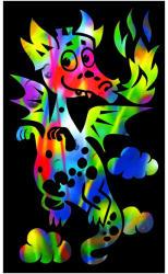 Reeves Szines képkarcoló, mini - Sárkány
