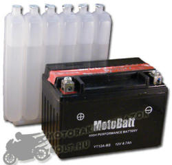 MotoBatt 12V 10Ah bal YT12A-BS