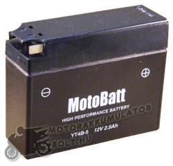 MotoBatt 12V 2.3Ah bal YT4B-BS