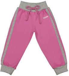 Scamp Pantaloni trening cu banda lata in talie, roz-gri (NID254)