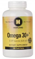 Highland Laboratories Omega 30+ Halolaj kapszula - 180db