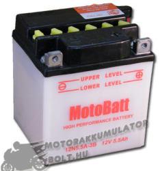 MotoBatt 12V 5.5Ah jobb 12N5.5A-3B