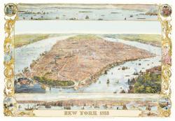 Piatnik New York, 1853, térkép 1000 db-os
