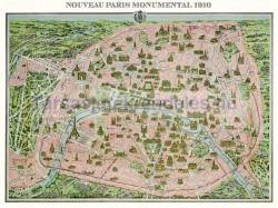 Piatnik Párizs, 1910, térkép 1000 db-os