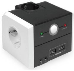 Bachmann PowerCube 3 Plug + 2 USB Plug 2m Switch (335.053)