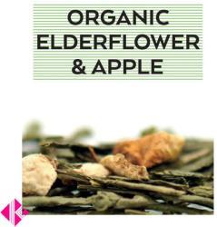 Johan & Nyström Organic Elfedeflower Apple Ízesített Zöldtea 100g
