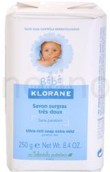 Klorane Bébé parfümös szappan gyermekeknek (Ultra-rich Soap Extra Mild) (250 g)
