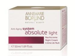 Annemarie Börlind System Absolute Light Anti-aging Éjszakai krém könnyű textúrával 50ml