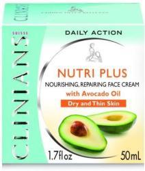 Clinians Nutri Plus Bőrtápláló arckrém avokádó kivonattal 50ml