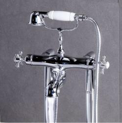 SAPHO London kádtöltő termosztatikus csaptelep, zuhanyszettel (LO41100)