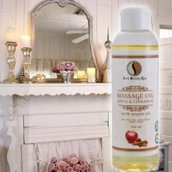 Sara Beauty Spa Almás-fahéjas masszázsolaj (Apple & Cinnamon) (250ml)