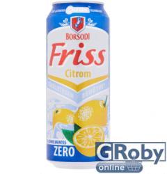 Borsodi Friss Zero Citrom 0,5l 0.5% - Dobozos