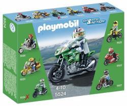 Playmobil Zöld Enduro motor (5524)