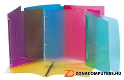 Viquel Propyglass Gyűrűs dosszié 4 gyűrű 20 mm A4 PP vegyes szín (020983)