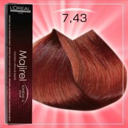 L'Oréal Majirel 7.43 Hajfesték 50ml