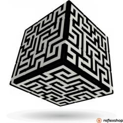 Verdes Innovation S. A. V-Cube Labirintus 3x3 versenykocka
