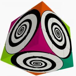 Verdes Innovation S. A. V-Cube Funky Spirál 3x3 versenykocka