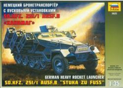 Zvezda Sd Kfz 251/1 Ausf B Stuka Zu Fuss 1/35 3625