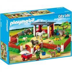 Playmobil Ţarc pentru îngrijirea şi recuperarea animalelor (5531)