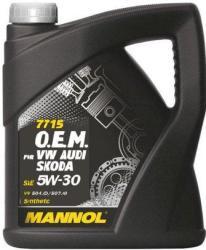 MANNOL 7715 O.E.M. for VW Audi Skoda 5W-30 (5L)