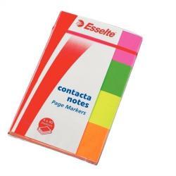 Esselte Contacta papír jelölőcímke 4x40 lap 20x50 mm neon (E83019)