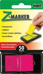 Sigel Műanyag jelölőcímke 50 lap 25x45 mm rózsaszín (SIHN480)