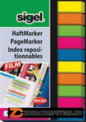 Sigel Micro műanyag jelölőcímke 10x40 lap 6x50 mm vegyes szín (SIHN617)