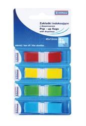Donau Műanyag jelölőcímke 4x35 lap 12x45 mm vegyes szín (D7557)