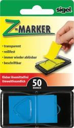 Sigel Z műanyag jelölőcímke 50 lap 25x45 mm kék (SIHN484)
