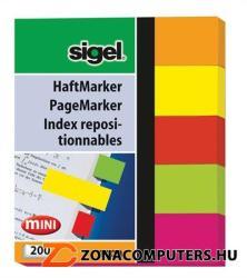 Sigel Neon Mini papír jelölőcímke 5x40 lap 12x50 mm vegyes szín (SIHN655)