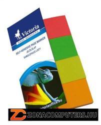 Victoria Papír jelölőcímke 4x50 lap 20x50 mm vegyes szín (LVJP)