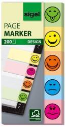 Sigel Smile papír jelölőcímke 5x40 lap 20x50 mm vegyes szín (SIHN502)