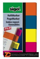 Sigel 614 műanyag jelölőcímke 4x40 lap 20x50 mm vegyes szín (SIHN614)