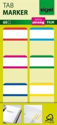 Sigel Fehér szélű megerősített jelölőcímke 25x38 mm 6x10 db vegyes színek (SHN201)