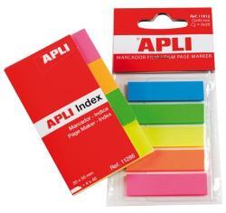 Apli Műanyag jelölőcímke 5x25 lap 12x45 mm 5 szín (LCA11912)