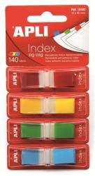 Apli Műanyag jelölőcímke 4x35 lap 12x45 mm 4 szín (LCA12483)