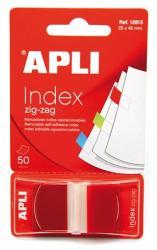 Apli Műanyag jelölőcímke 50 lap 25x45 mm piros (LCA12613)