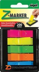 Sigel Műanyag jelölőcímke 5x40 lap 12x45mm vegyes szín (SIHN489)