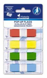 Victoria Műanyag jelölőcímke 4x36 lap 43x12 5 mm vegyes szín (LVOJ4)