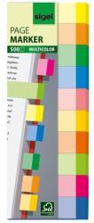 Sigel Multicolor papír jelölőcímke 10x50 lap 15x50 mm vegyes szín (SIHN682)
