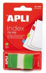 Apli Műanyag jelölőcímke 50 lap 25x45 mm zöld (LCA12612)