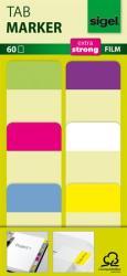 Sigel Megerősített  színes szélű jelölőcímke 25x38 mm 6x10 db vegyes színek (SHN203)
