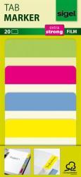 Sigel Megerősített színes szélű jelölőcímke 50x38 mm 4x5 db vegyes színek (SHN204)