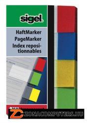 Sigel Clear műanyag jelölőcímke 4x40 lap 20x50 mm vegyes szín (SIHN670)