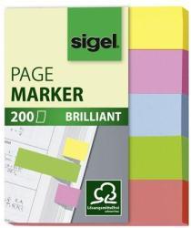 Sigel Brilliant Mini papír jelölőcímke 5x40 lap 12x50 vegyes szín (SIHN625)