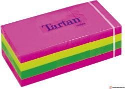 TARTAN Önatapadó jegyzettömb 38x51 mm 100 lap 12 tömb/cs vegyes neon színek (LPT5138N)
