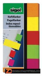 Sigel Papír jelölőcímke 5x40 lap 20x50 mm Neon vegyes (SIHN650)