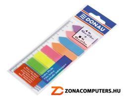 Donau Címke és nyíl forma műanyag jelölőcímke 8x25 lap 12x45/42 mm neon szín (D7579)