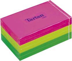 TARTAN Öntapadó jegyzettömb 127x76 mm 100 lap 6 tömb/cs vegyes neon színek (LPT12776N)